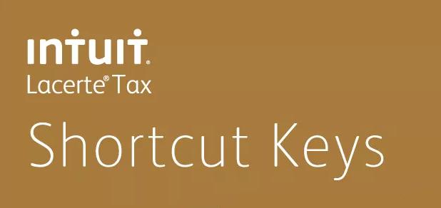 Intuit Lacerte shortcut keys