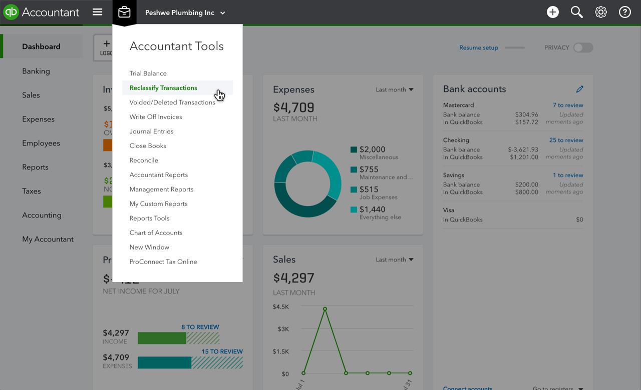 QuickBooks Online Accountant Accountant Tools
