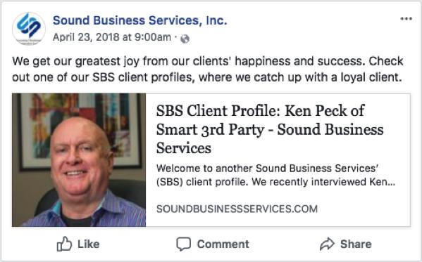 Sound Business Services Client Profile